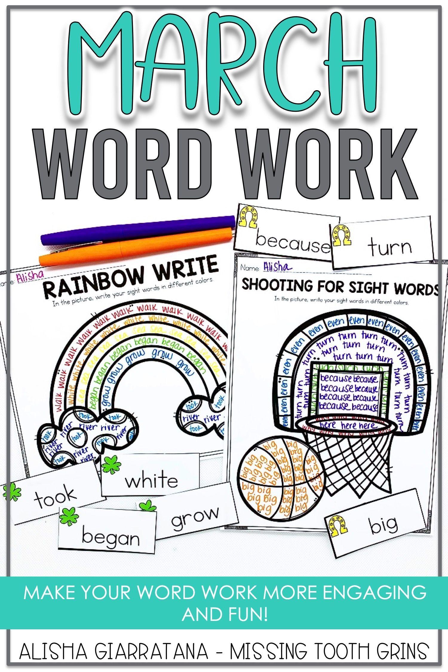Word Work Center March
