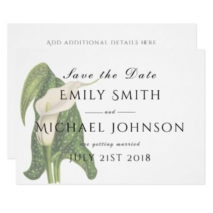 Calla Lily Save The Date Card Template  Invitations Personalize