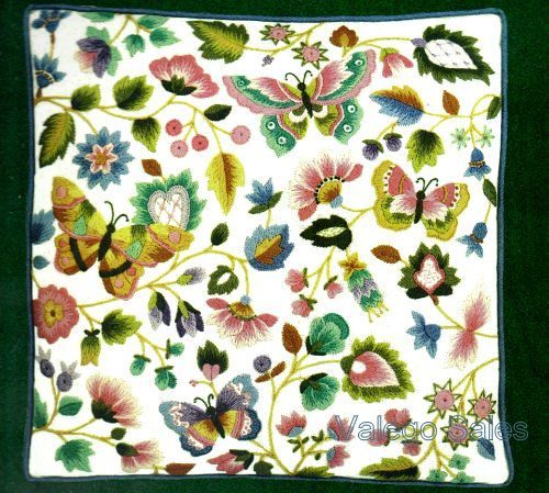 Jca Elsa Williams Crewel Embroidery Kit 12 X 12 Chelsea Pillow