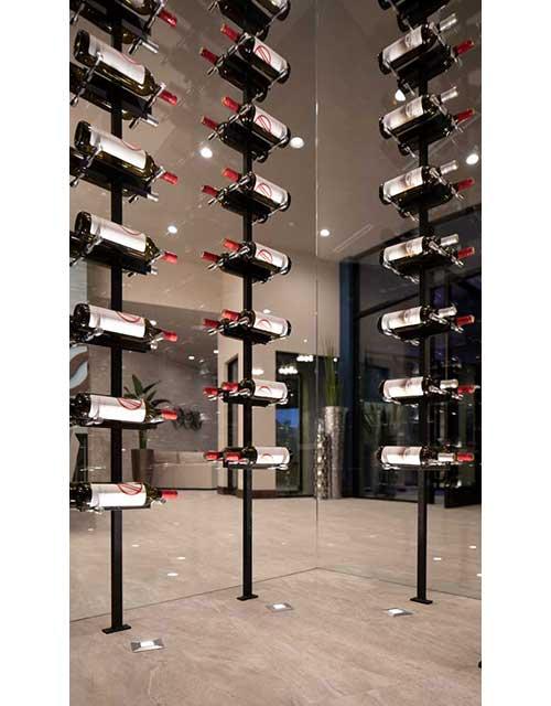Vino Series Post Floating Rack System In 2020 Wine Wall Cellar Design Metal Wine Rack