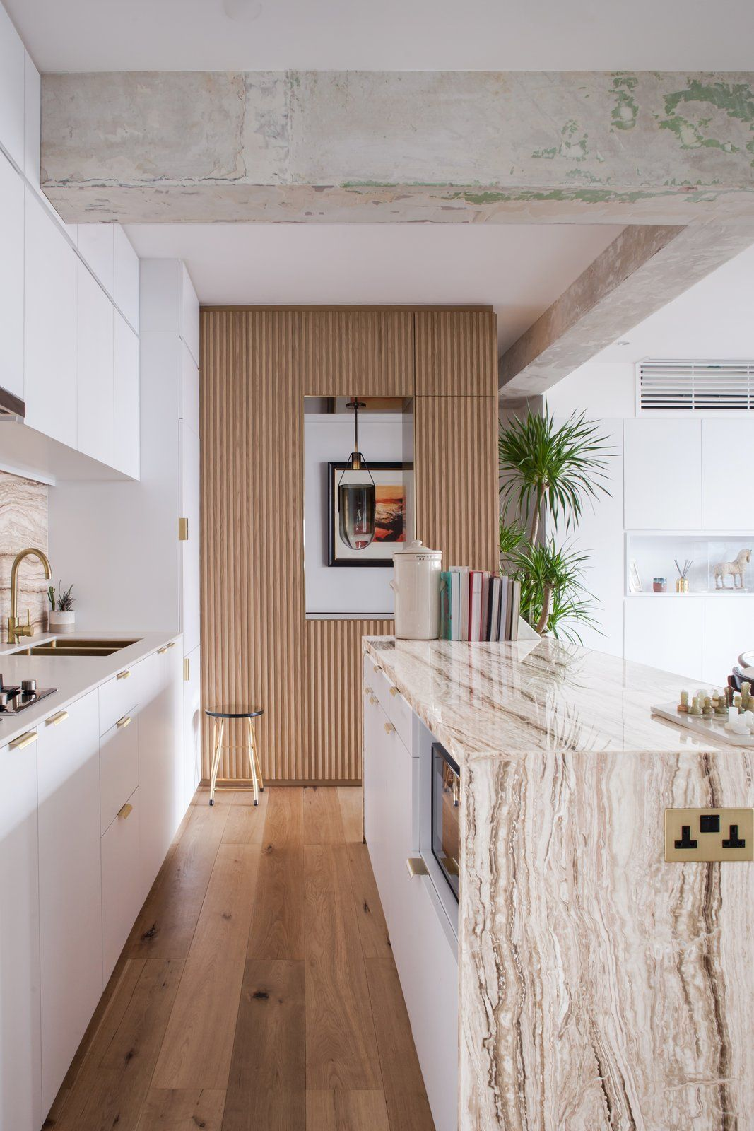 Modern home with Kitchen, Drop In Sink, Marble Counter