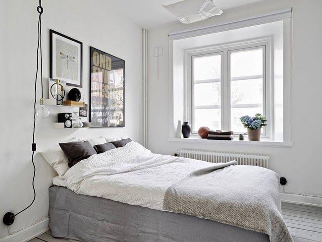 Dormitorio en negro y oro