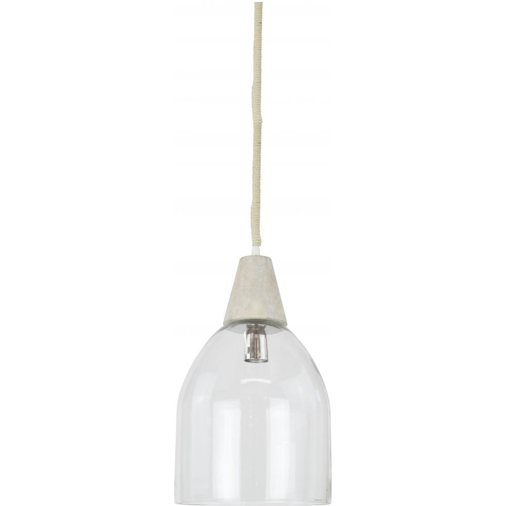 Tolosa Glass Pendant Comes With A Classic Wooden Top And Beautiful Hand Blown Shade