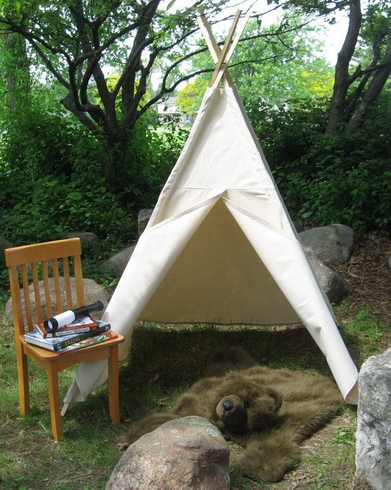 sale retailer 36861 ce047 Kids Canvas Teepee Tent, Two Sizes Available, Choose Your ...