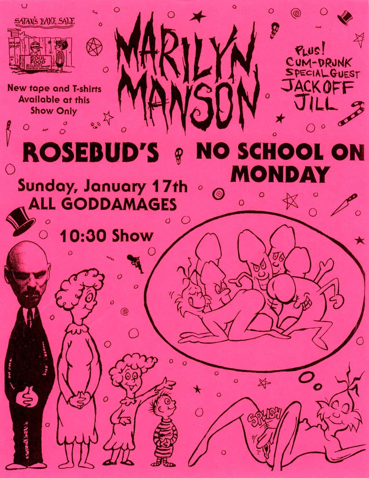 Jan 17 1993 Marilyn Manson Marilyn Rock Posters