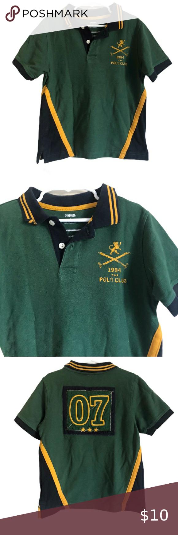 Gymboree 1984 Polo Club Logo 7 Boys Polo In 2020 Shirts Tops Clothes Design Polo Boys