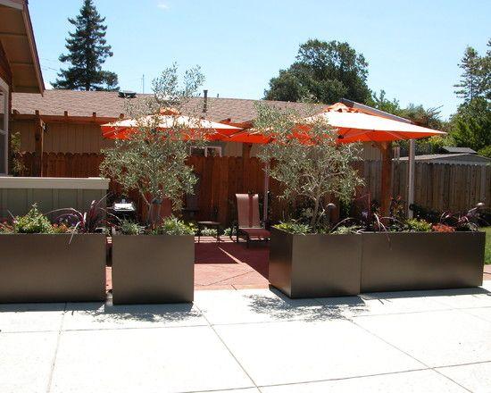 Glamorous Planter Wall Tiles With A Set Of Patio And Umbrellas Also Ceramics Floor Jpg 550 44 Large Outdoor Planters Outdoor Planter Boxes Contemporary Garden