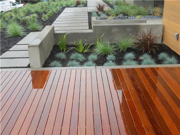 Wood Patio Meets Concrete For A Clean Modern Look