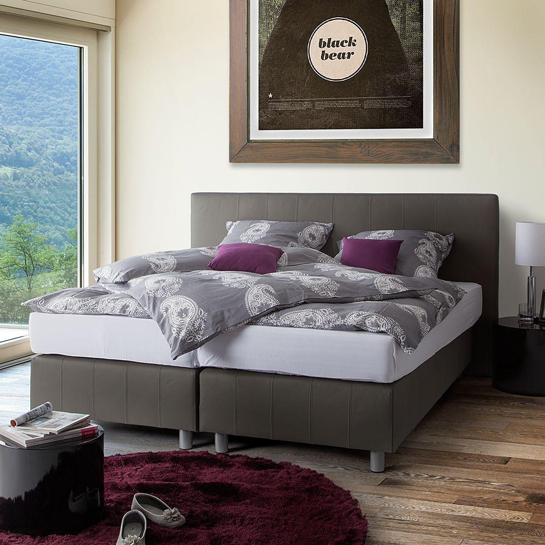 Boxspringbett Atlanta Echtleder Schlafzimmermobel Haus Deko Bett