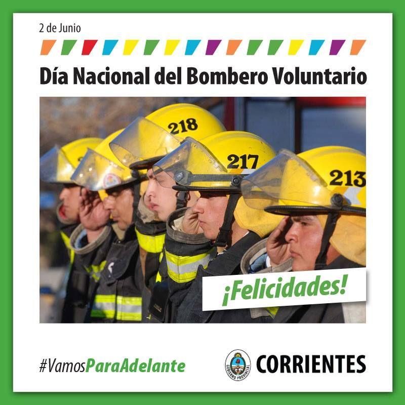 Feliz Día nacional del bombero voluntario!!! #VamosParaAdelante