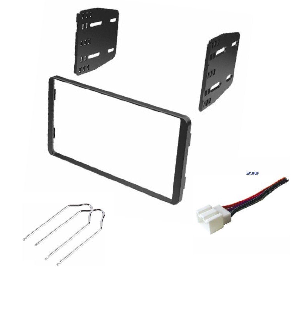 car stereo dash kit wire harness and radio tool for installing a double din radio for 1998 2008 ford econoline 1999 2003 ford f 150 1999 2004 ford  [ 1200 x 1266 Pixel ]