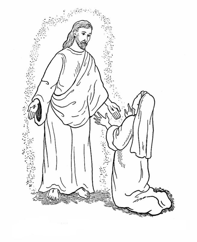 picture Jesus Bible to color