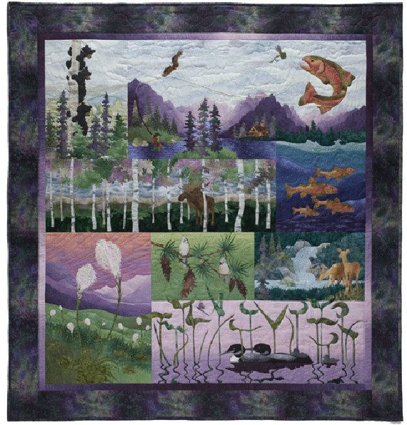 Aurora Ridge McKenna Ryan Pine Needles Wildlife Animal Bear 8 Pattern Set