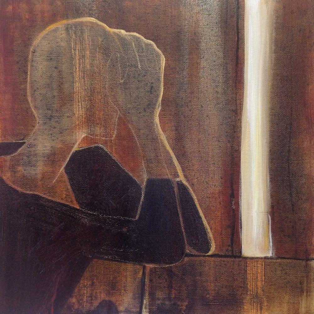 Cathrine Boman - Der lyset slipper inn - Acryl på lerret, 30 x 30 cm