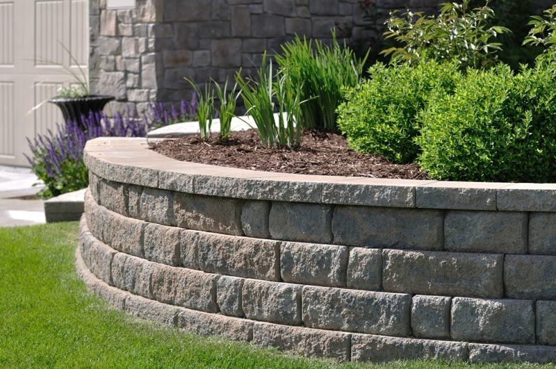 Landscape Blocks Lowes Retaining Wall Design 4 Outdoor Gardens