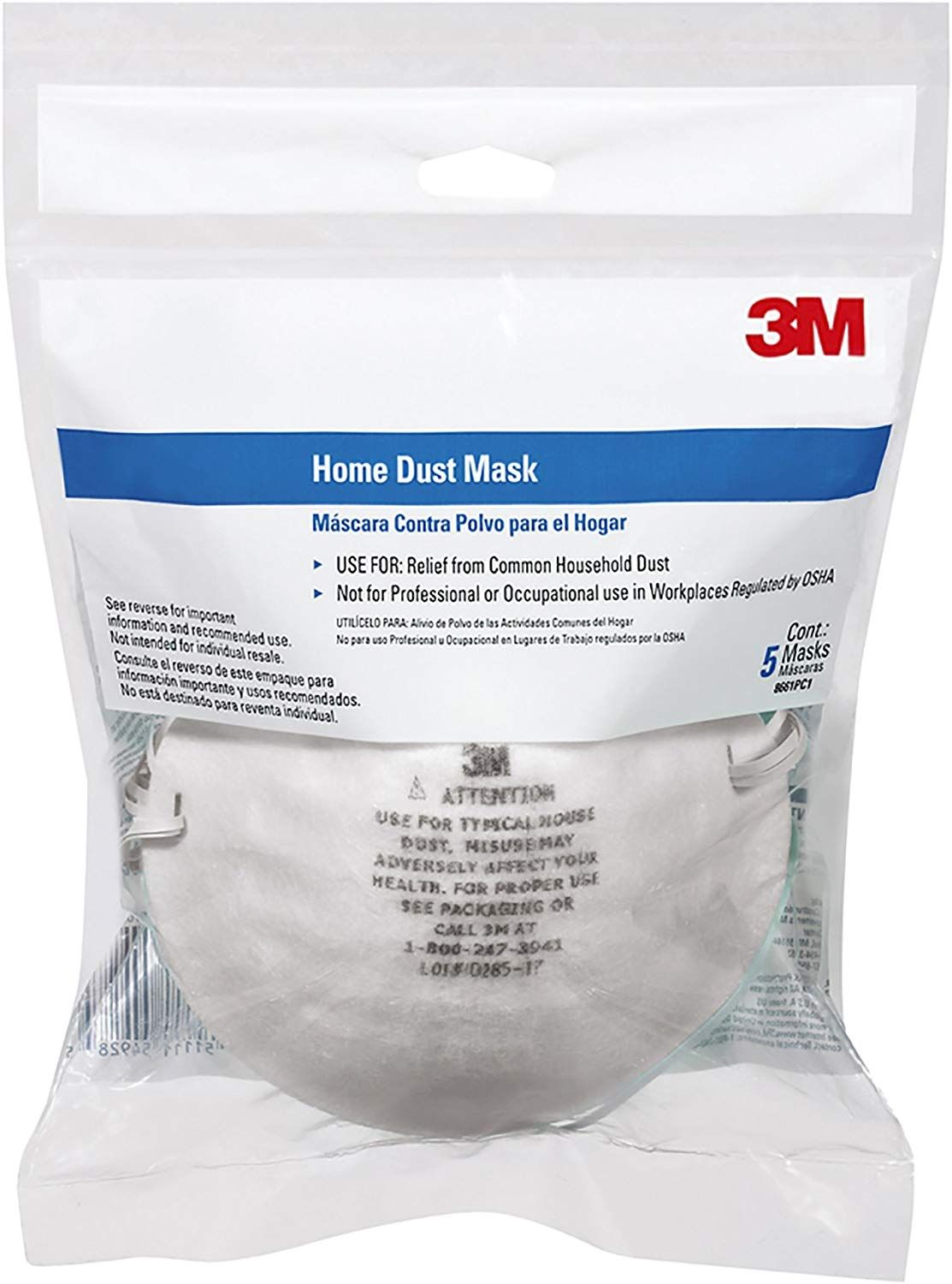 3M 8661PC1A Home Dust Mask, 5Pack Amazon.co.uk DIY