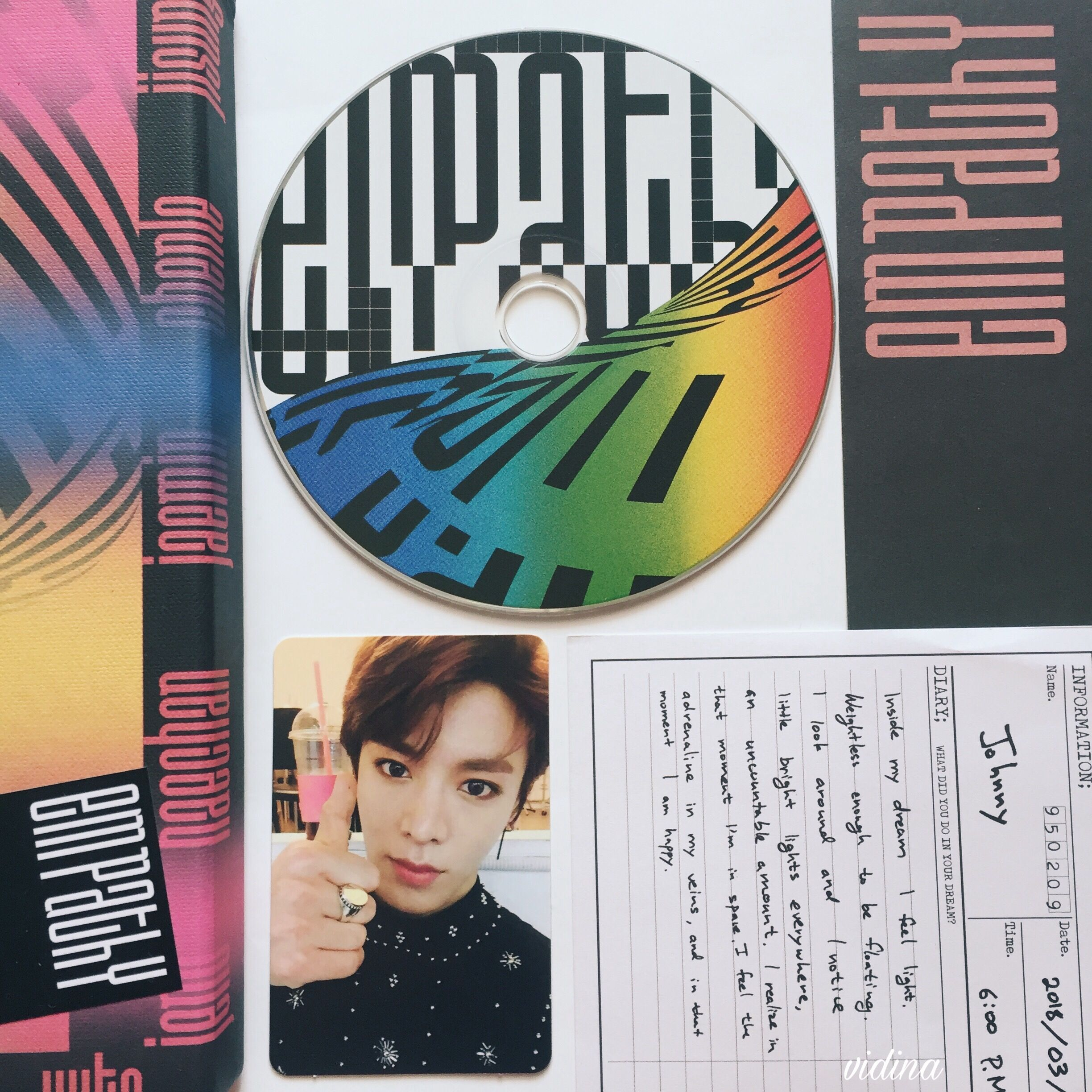 NCT 2018 Empathy Album, Dream version, Yuta photocard