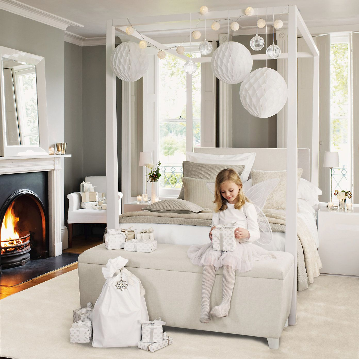 Linden Four Poster Bed Beds The White Company Beds