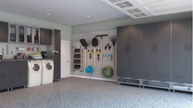 Garage Storage   Brushed Aluminum   Home And Garden Design Ideas   Closet  Factory. I Would Love To Have An Old Washer And Dryer In The Garage For  Dirty Work ...