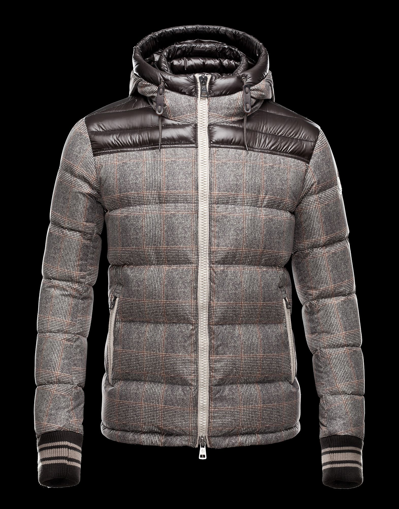 Moncler Eusebe Fashion Mens Jacket Down Short Coffee Cheap Moncler Outlet  Store
