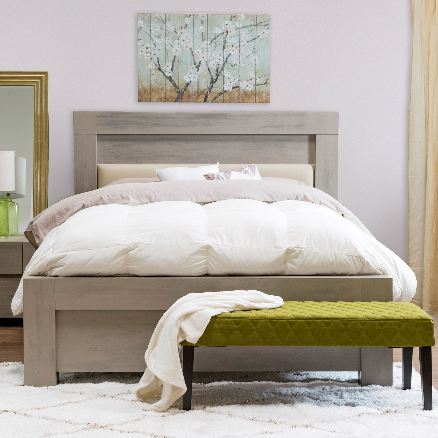 Liam Jazz Queen Bed Frame The Liam Jazz S Light Wood Color Brings