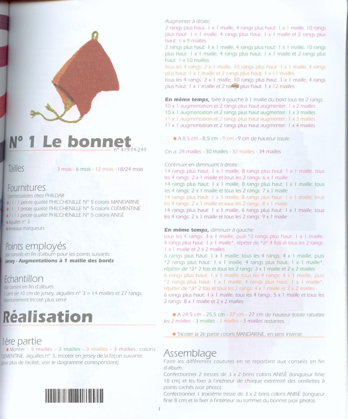cb612d76898 Modèle de bonnet péruvien - adulte enfant - et gants - VHD Créations -  cartes faire-part cadeaux naissance - VHD Créations