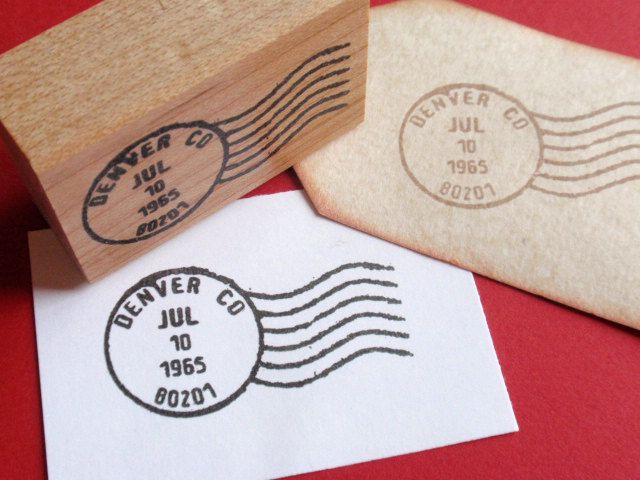 Letter Postmark Cancellation Mark Rubber Stamp - customize it - Handmade by BlossomStamps. $7.50, via Etsy.
