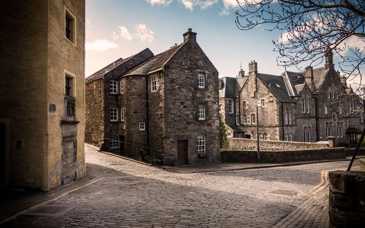 Immagini Case Grigie : Scarica sfondi edimburgo in scozia la città vecchia case grigie