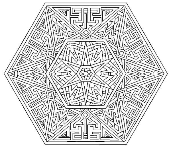 Aztec Amazing Aztec Mandala Coloring Pages Amazing Aztec Mandala