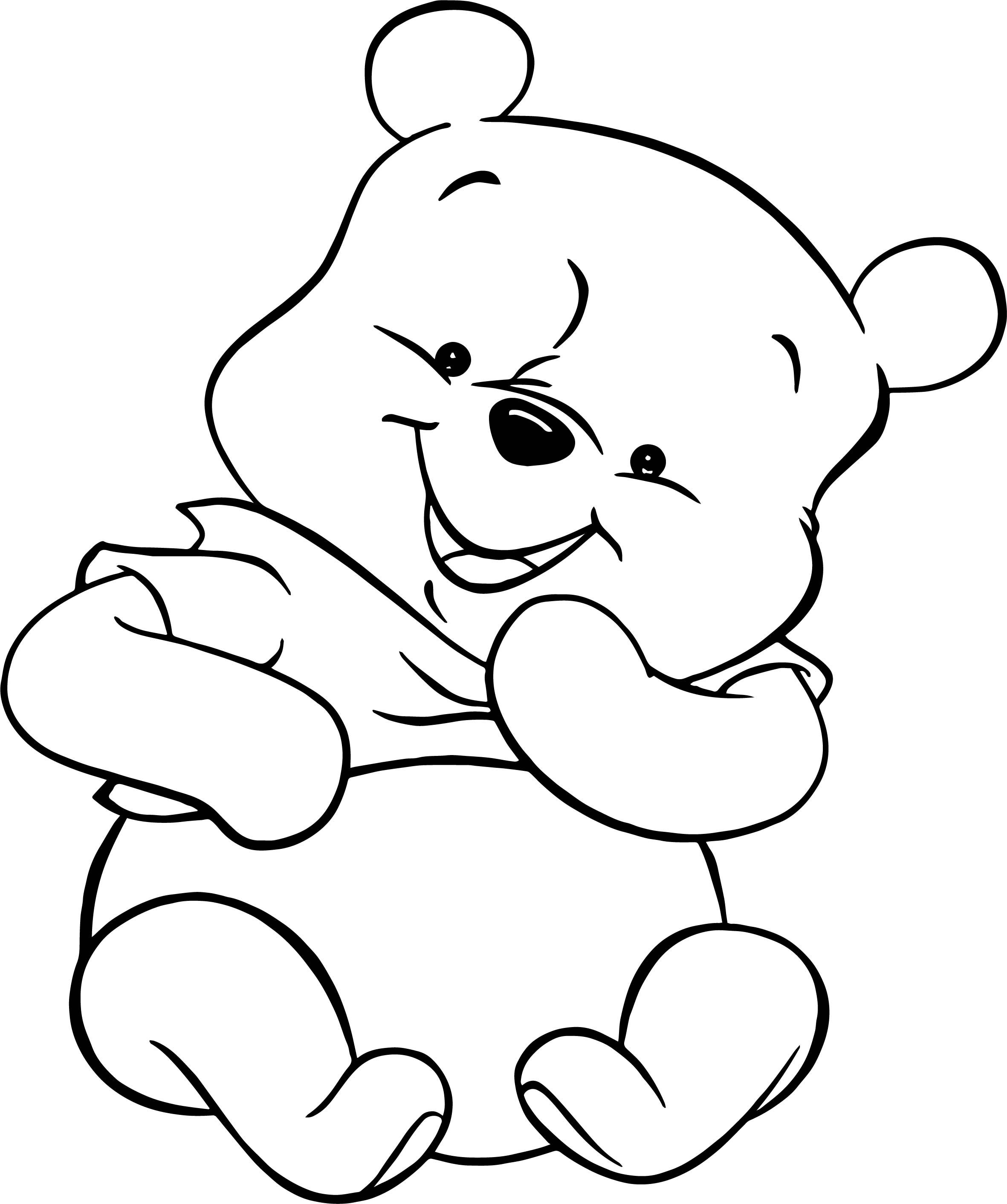 Cool Baby Pooh Toy Gift Coloring Pages Bear Coloring Pages Disney Coloring Pages Baby Coloring Pages