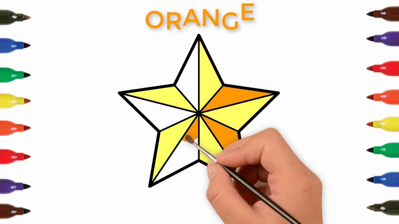 How To Draw A Star For Kids Stars Coloring And Drawing For Kids Toddlers Star Coloring Pages Drawing For Kids Cool Things To Make