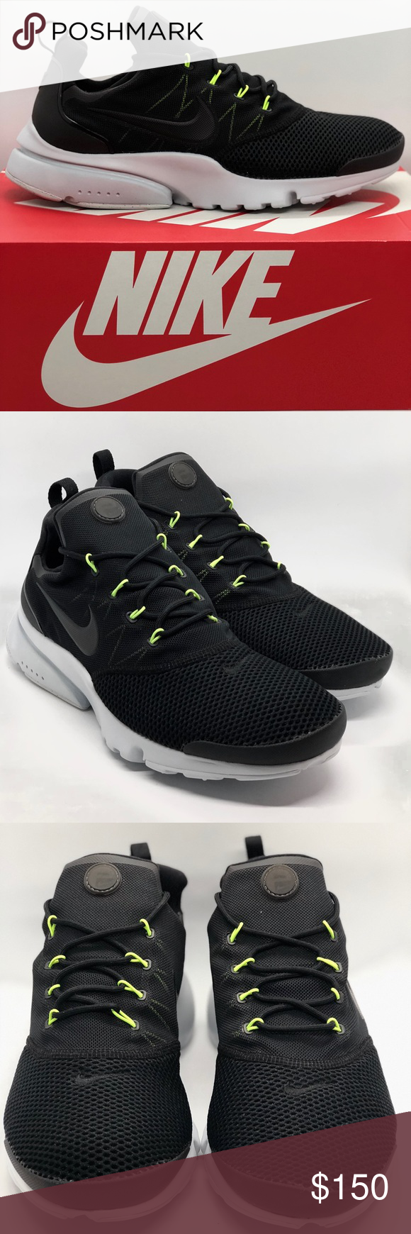 promo code 41c4c 2896b Nike PRESTO FLY (908019 004) Mens Sneakers Nike PRESTO FLY (908019 004)  Mens Sneakers Size 11 Black Volt Pure Platinum • Stretch mesh upper  provides ...