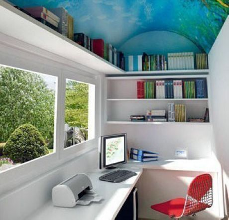 The study room converted from balcony it 39 s nice to see the way they converted this space with for Converting a sunroom into a bedroom
