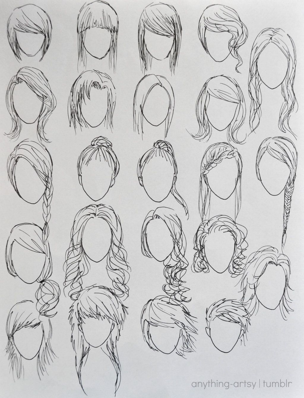 How To Draw Easy Girl Hairstyles Step By Step