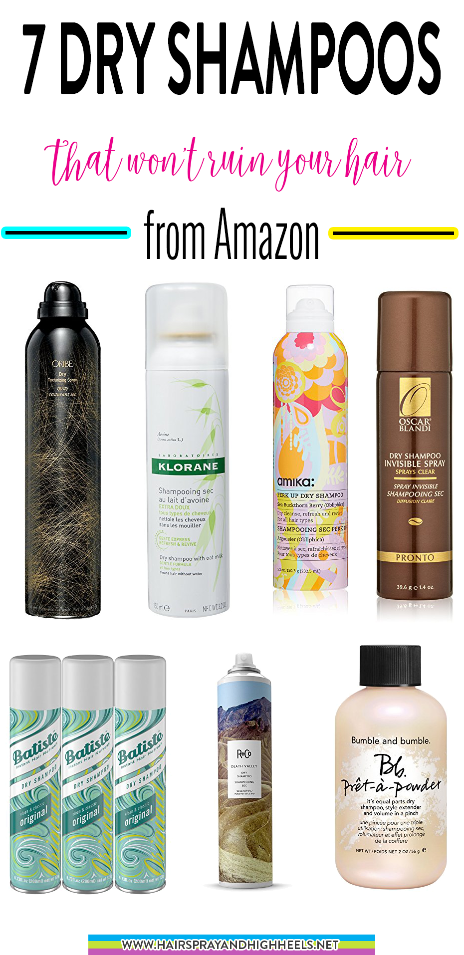 7 Dry Shampoos That Won T Ruin Your Hair Hairspray And Highheels Good Dry Shampoo Thin Hair Care Dry Shampoo