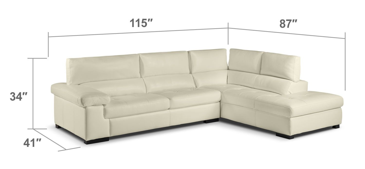Top Of The Line. When You Add The Underwood Sectional In Bisque To Your Home