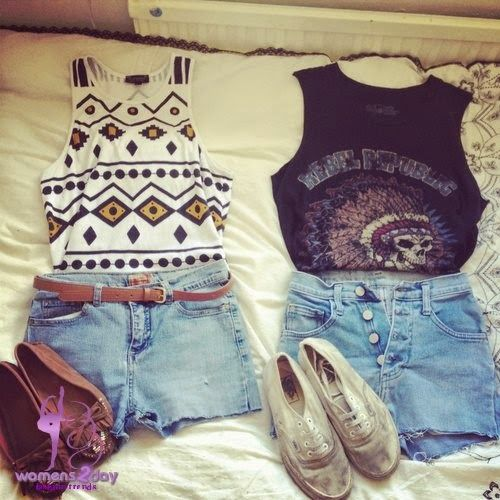 Summer outfits 2014 / hot short jeans for teens