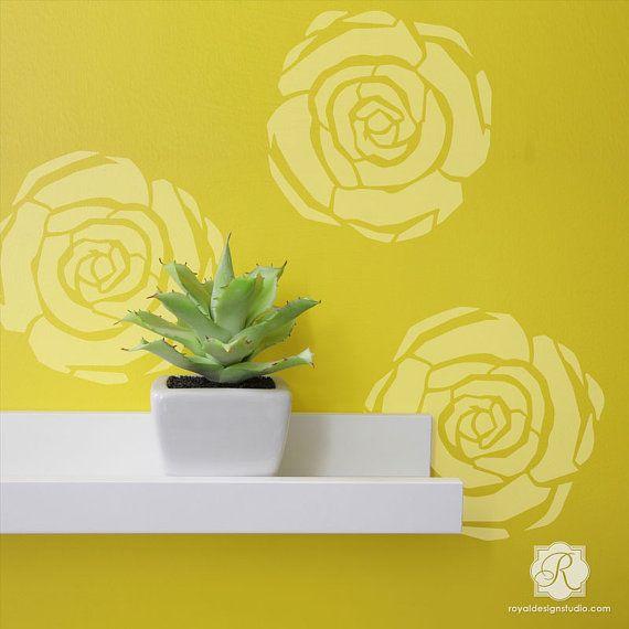 Deco Flower stencil perfect for DIY crafts by royaldesignstencils ...
