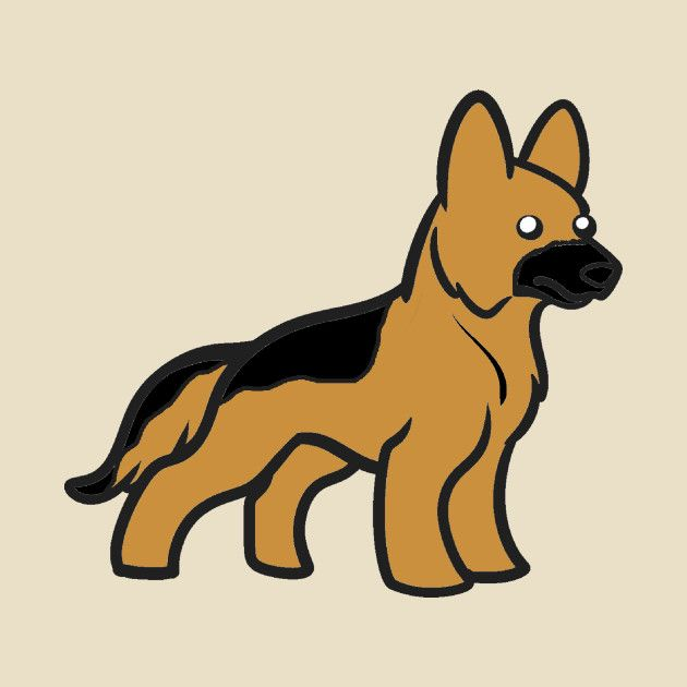 Check Out This Awesome German Shepherd Black And Tan Cartoon