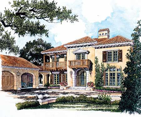 Plan 56129ad spanish colonial romance spanish colonial for Spanish colonial home designs