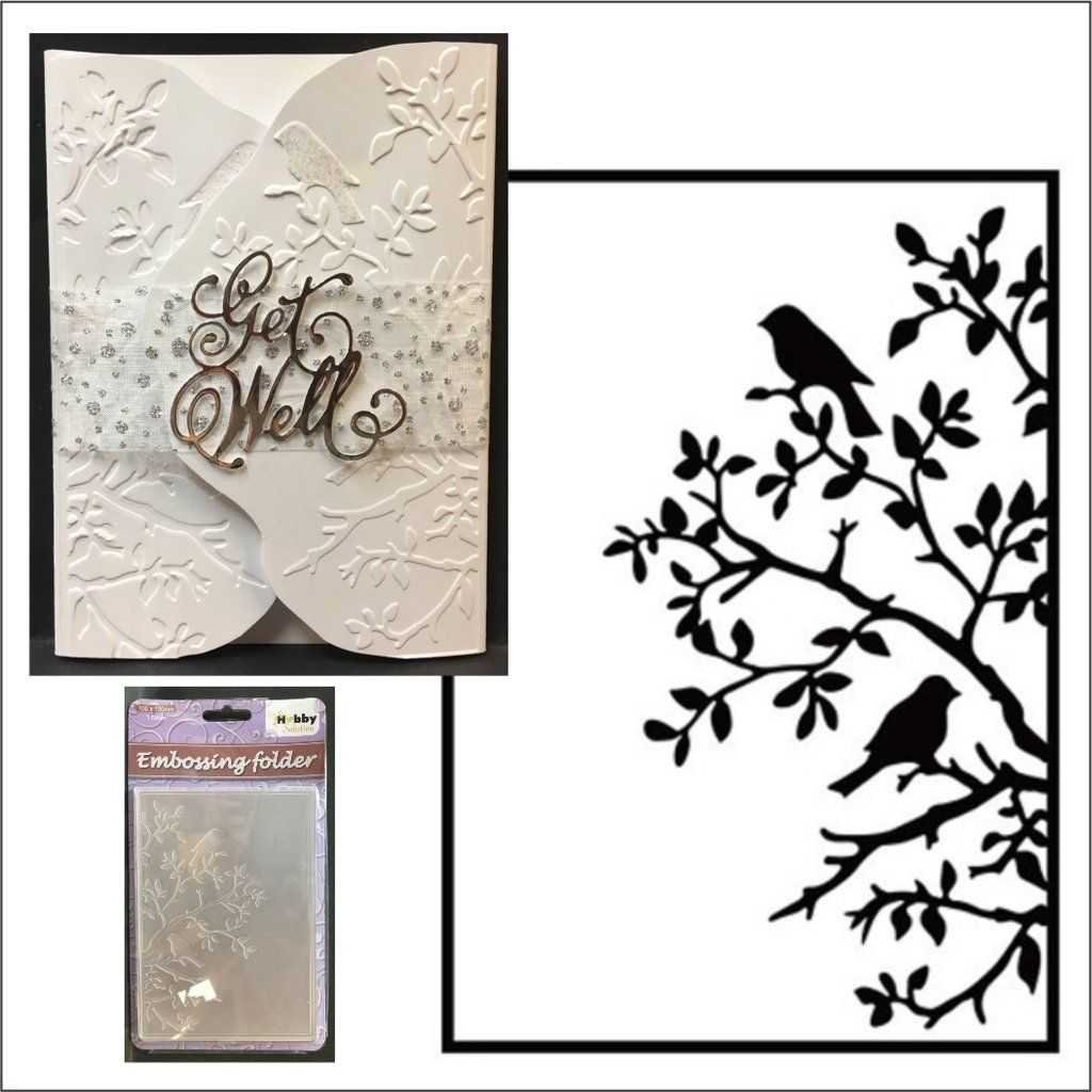 Branches Stencil Dies Universal Cutting Embossing Machine Sizzix Card Making