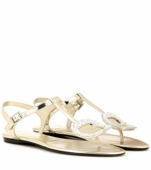 Free Shipping Amazing Price Sale With Mastercard Roger Vivier Metallic leather sandals Amazing DkMAHfjpm