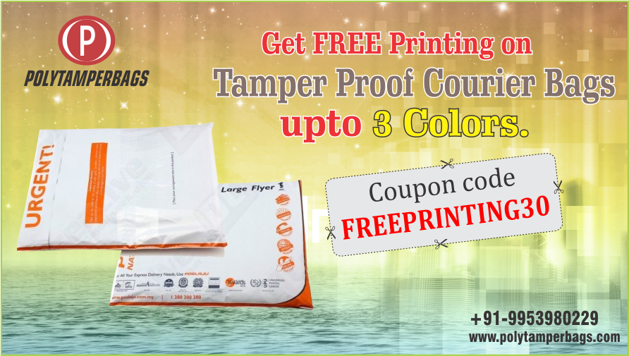 Special Offer Get Free Printing On Tamperproofcourierbags Upto 3 Colors Use Promo Code Freeprinting30 Polytamperbag With Images Free Prints Holi Special Promo Codes