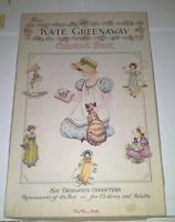 VINTAGE KATE GREENAWAY COLORING BOOK Red Farm Studio 50\'s Very Rare ...