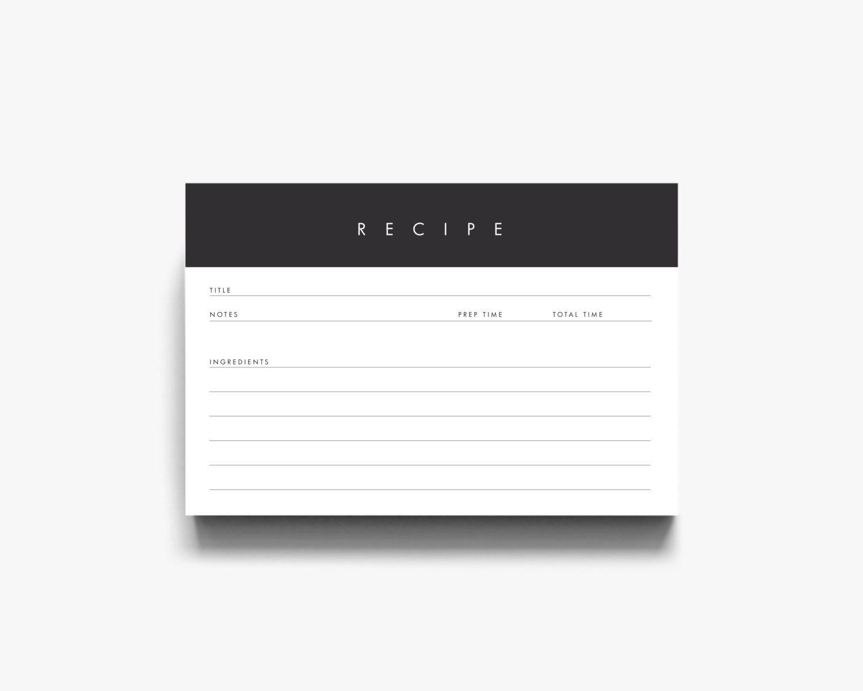 Recipe Template Recipe Cards Printable Modern Recipe Cards Instant Downl Printable Recipe Cards Recipe Cards Printable Templates Recipe Cards Printable Free