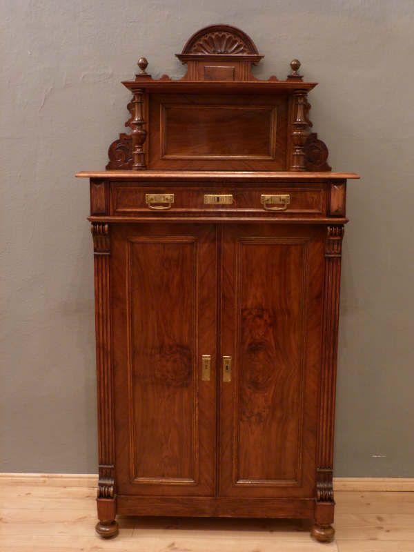 antikes gr nderzeit vertikow nussbaum um 1880 house. Black Bedroom Furniture Sets. Home Design Ideas