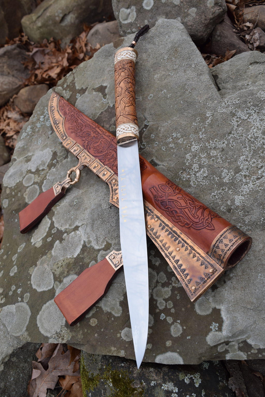 Pin Von Make It Sharp Auf Knife Life Seax Knife Vikings