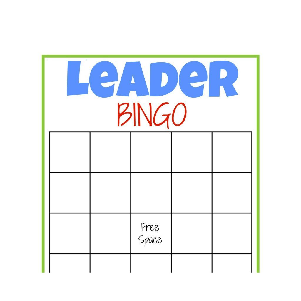 Leader Bingo Free Printable