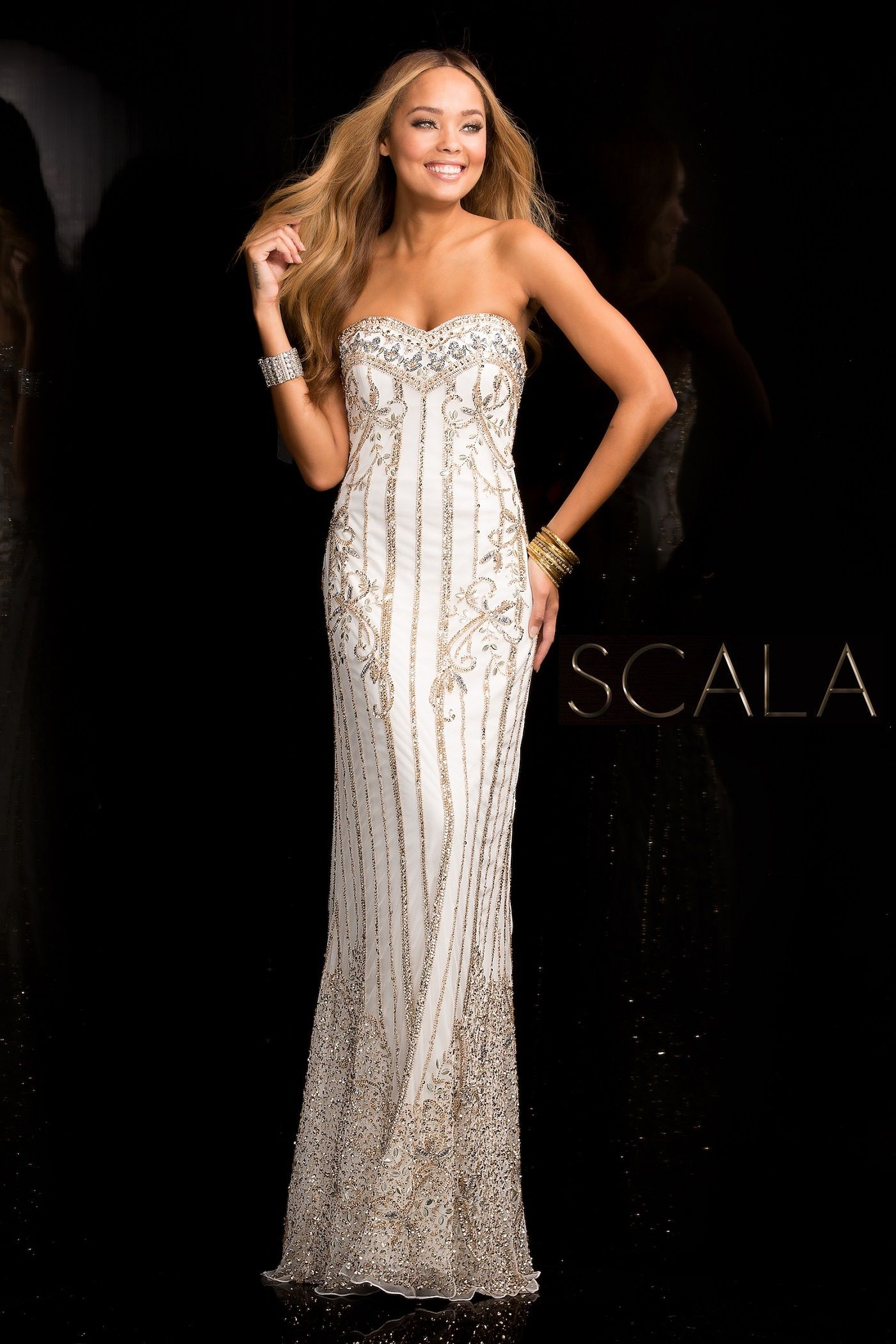 SCALA Spring 2017 style 48685 Ivory/Silver/Gold. #scalausa ...