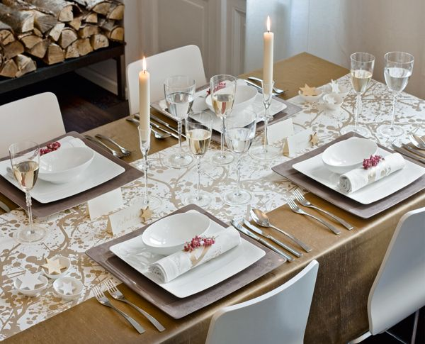 silver and gold tablescape | theme: silver & gold. mixing metals